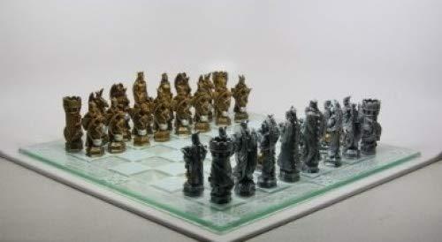 (King Arthur Fantasy Figurines Hand Painted Chess Set,)