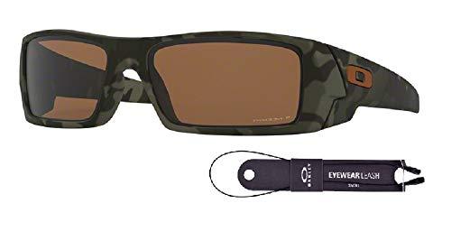 Oakley Gascan OO9014 901451 60M Matte Olive Camo/Prizm Tungsten Polarized Sunglasses For Men For Women+BUNDLE with Oakley Accessory Leash Kit Accessory Kit Value Bundle