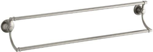 KOHLER K-11413-BN Bancroft 24-Inch Double Towel Bar, Vibrant Brushed Nickel