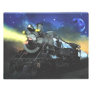 """Ohio Wholesale 37666 - 16"""" x 12"""" x 3/4"""" - """"Train"""" Battery Operated LED Lighted Canvas (Batteries Not Included)"""