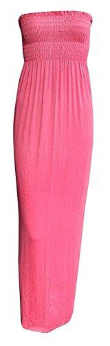 femmes robe Corail Bandeau Manches 26 Long Bandeau Neuf RU Maxi Femmes 8 Sans Fin Pour xnqC6vT