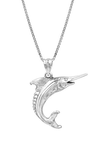 Sterling Silver Marlin Necklace Pendant