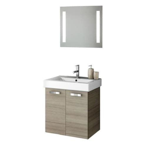 Nameeks C97 ACF 21-9/10″ Wall Mounted Vanity Set with Wood Cabinet, Ceramic Top, Larch Canapa