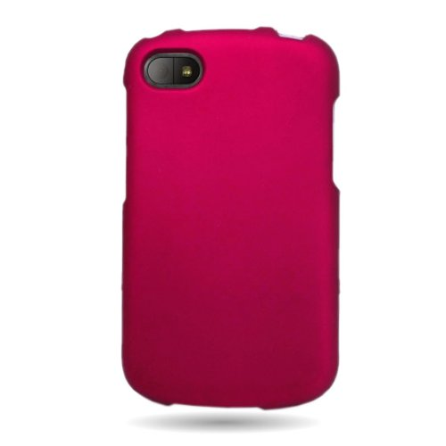 BlackBerry Q10 Case, CoverON [Snap Fit Series] Slim Rubberized Hard Plastic Shield Phone Cover Case for BlackBerry Q10 - Rose Pink