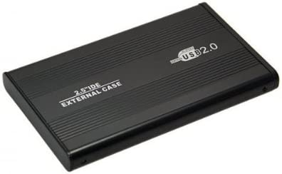Aluminio (2,5 pulgadas) IDE HDD USB 2.0 disco duro externo 6,35 cm, Negro: Amazon.es: Informática
