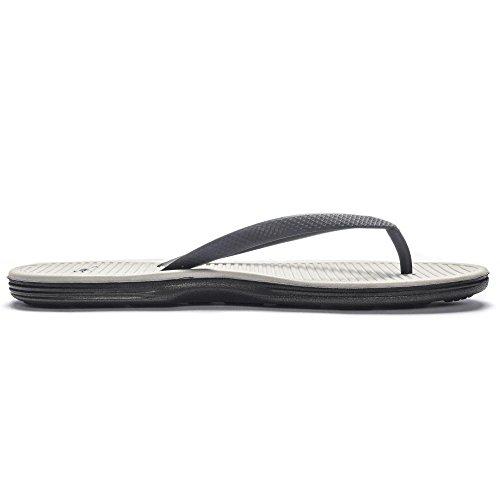 Nike Women's Solarsoft Thong II Sandal Black/Black/Metallic Silver 10