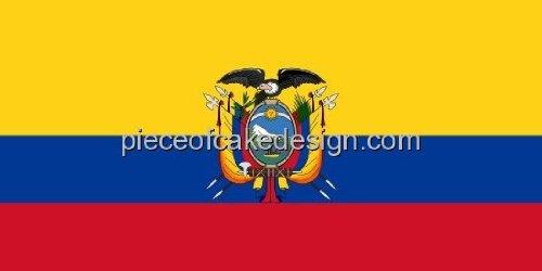 Ecuador Country Flags Edible Image
