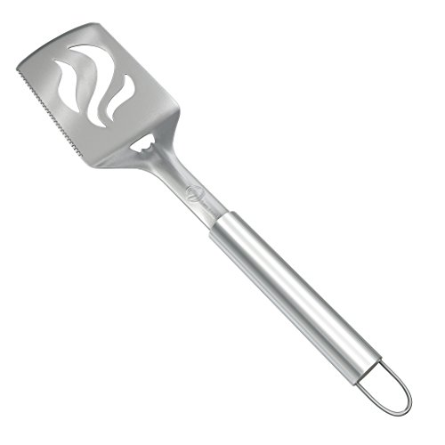 Barbecue Spatula With Bottle Opener - HEAVY DUTY 20% THICKER STAINLESS STEEL - Wide Metal Grilling Turner for Burgers Steak & Fish - Large BBQ Grill Handle - Best Cooking Utensils & Accessories