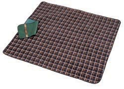 Greenfield Collection Moisture Resistant Luxury Picnic Blanket Midnight Blue Plaid