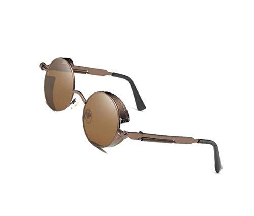 metal de protección conducción sol mujer con de los de de aire para de de al para Coffee UV400 color marrón gafas Gafas libre para sol hombres Gafas viajar montura claro de Hznx86