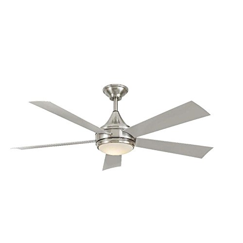 Hanlon 52 in. LED Indoor Outdoor Stainless Steel Brushed Nickel Ceiling Fan