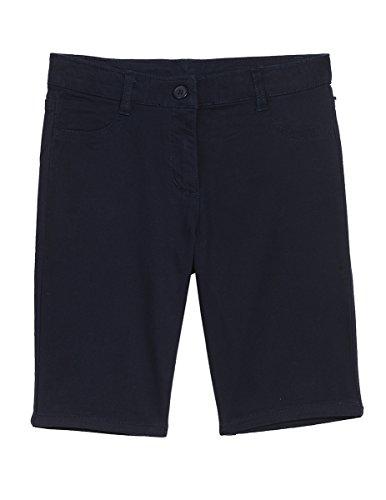 Nautica Big Girls' 5 Pocket Sateen Bermuda Short, Su Navy, 7