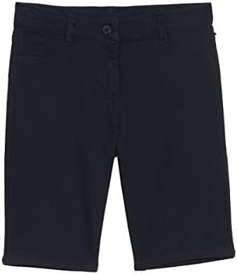 Nautica Big Girls' 5 Pocket Sateen Bermuda Short