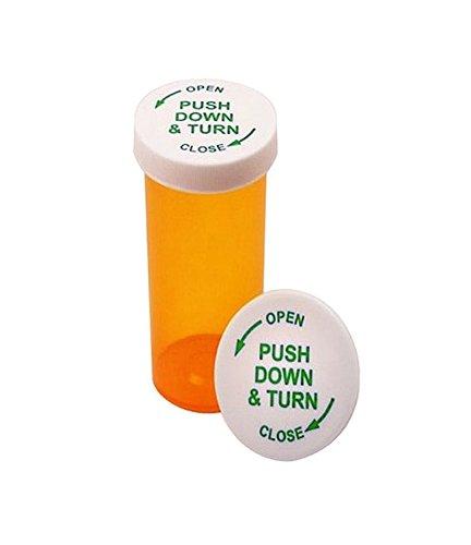 Cafe Cubano® Pill Bottle; Airtight 6 Drams Pharmacy Plastic