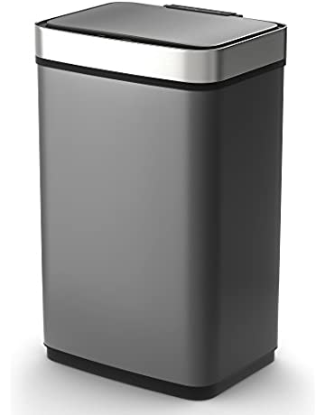 6413e51cc38d Save on Morphy Richards Pro Rectangular Sensor Bin with Infrared  Technology, Stainless Steel, Titanium