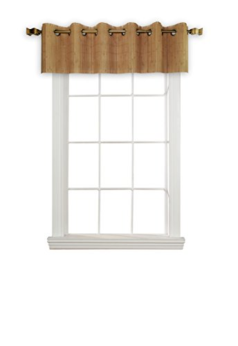 (Versailles Home Fashions BPU147212-9 Bamboo Wood Valance with Grommets, 72