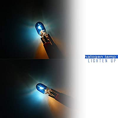 10pcs T10 W5W 168 194 Halogen Bulb 12V for Car Wedge Side Light Bulb Icy Blue Car Tail Light Side Parking Dome Door Map Lighting: Automotive
