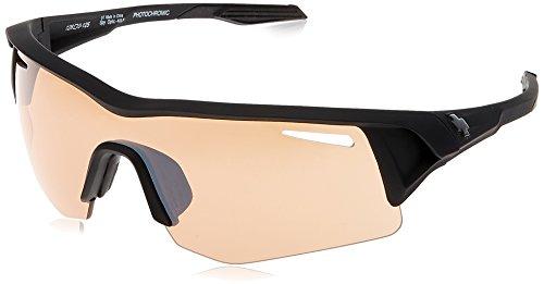 (Spy Optic Screw Shield, Matte Black,Bronze Photochromic & Light Silver, 126 mm)