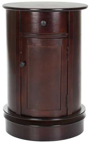 Safavieh AMH5712D Tabitha Oval Cabinet,Dark Cherry (Cherry Oval Cabinet)