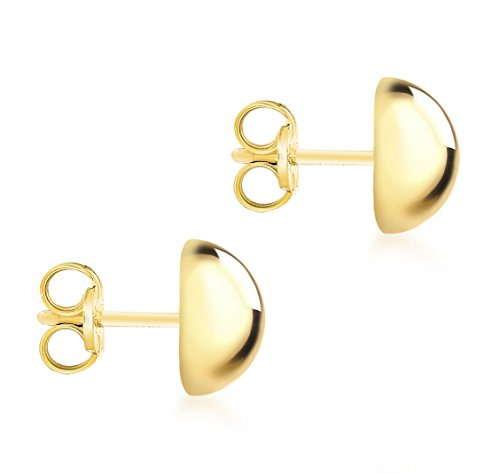 Carissima Gold Women's 9 ct Yellow Gold 12 mm Half Ball Stud Earrings X6ppl3