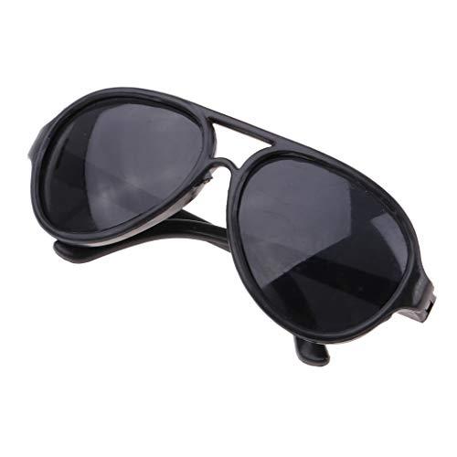 [해외]Prettyia 25cm Doll`s Sunglasses Big Oval Shape Sunglasses Retro Frame Eyewear for Mellchan Dolls Black / Prettyia 25cm Doll`s Sunglasses Big Oval Shape Sunglasses Retro Frame Eyewear for Mellchan Dolls Black