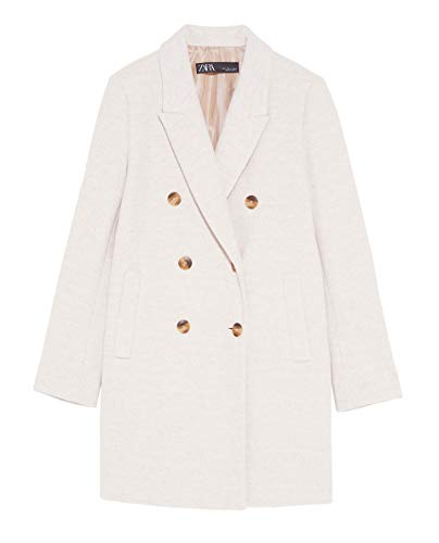 Zara Women Double-Breasted Coat 2013/981 (Small) Beige for sale  Delivered anywhere in USA