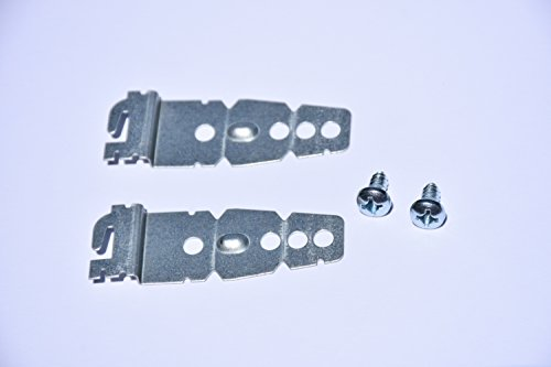 2-Pack Dishwasher Mounting Bracket w/screws | Universal Brackets for Kenmore Kitchenaid Frigidaire, Maytag, LG, Bosch Dishwashers | Under-Counter Mounting Bracket | Compare to parts (Bosch Countertop)