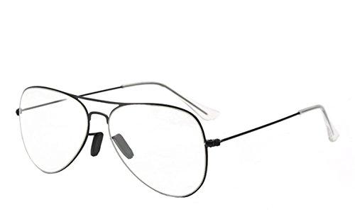 Zackzk Men Pilot Gradient Sunglasses Women Driving Clear Glasses For Female Optical Glasses Black Clear