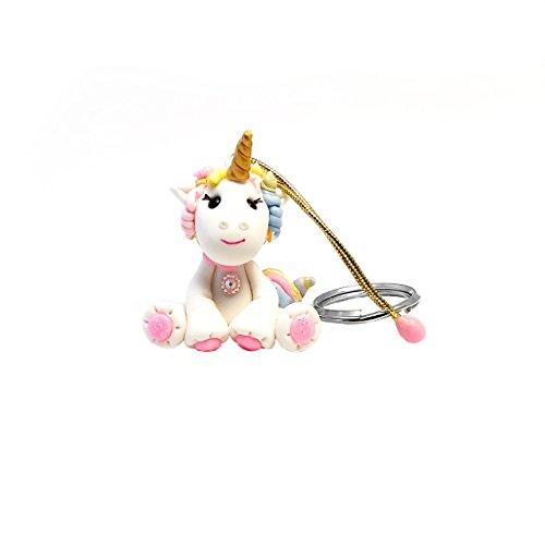 Unicorn Keychain Cold Porcelain