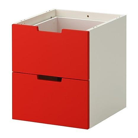 Ikea Cassettiere Nordli.Ikea Nordli Modulare Cassettiera Con 2 Cassetti Rosso