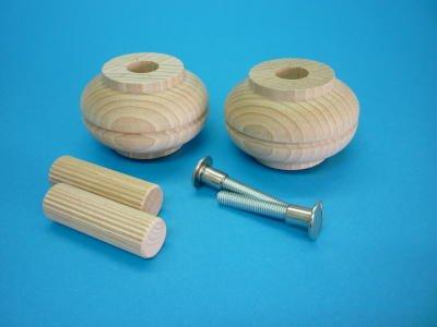 Baule Legno Fai Da Te : Set piedini in legno piedi mobili piedi bauli in legno di faggio