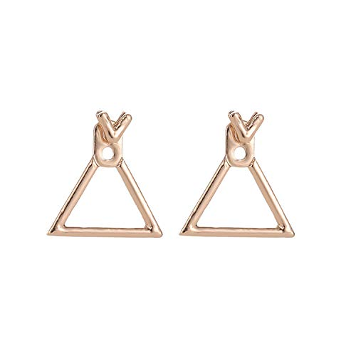 (Luccaful Fashion Jewelry Cute Triangle Dangle Earrings Ms. Square Earrings Unique Design Small Geometric Earrings Ms. Gift valentines Day,Gold)