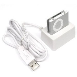 White USB Charger Dock Cradle for iPod Apple