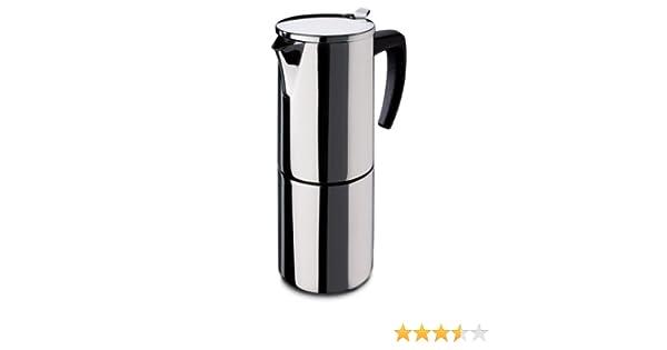 Fagor - Cafetera INOX Etna6, 6 Tazas, 535 Ml, Acero INOX, Asa Soft