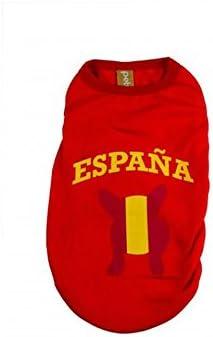 Camiseta España XL (39 cm): Amazon.es: Productos para mascotas