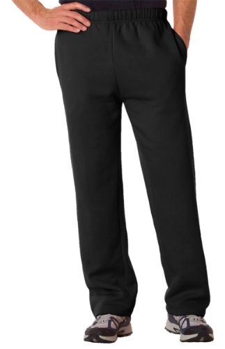 - Badger Adult Blended Open-Bottom Fleece Pants (Black) (4X-Large)