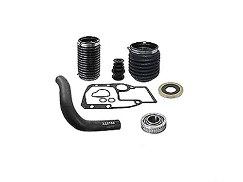 MAREEYA SHOP OMC Cobra Rubber Bellows Boot Transom Repair Kit Water Hose Gimbal Bearing Seal Replaces : 911826/3854127 / 3850426/3853807 / 911830/3852548