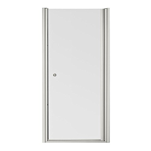 KOHLER K-702406-L-MX Fluence Frameless Pivot Shower Door, Matte Nickel