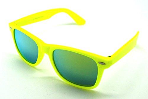 Espejo de Hombre Amarillo Sunglasses Mujer Wayfarer Gafas Sol 6IAqfdww