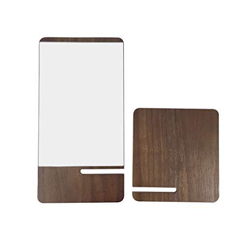 White wolf Desktop Makeup Mirror, Desktop Mirror, Japanese Insert Mirror, Decorative Mirror, -