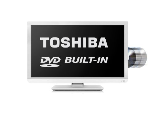 Toshiba 24D1334B/24D1334B2 24-inch Widescreen HD Ready LED TV with Built-In DVD Player