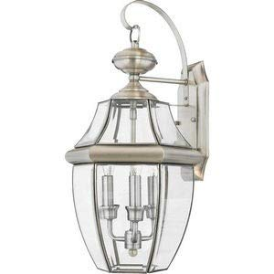 (Quoizel NY8318P Newbury Outdoor Wall Lantern Wall Mount Lighting, 3-Light, 180 Watts, Pewter (23