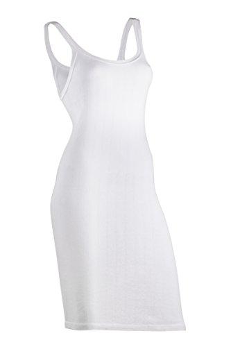 Indera Women's 100-Percentage Cotton 1x1 Rib Rib-Knit Slip (3-Pack), White, Medium