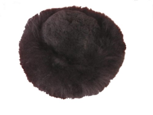 Fur Satin Hat (Alpakaandmore Womens Black Baby Alpaca Fur Mongolian Hat Satin Lined Russian Hat (X-Large ( 23 1/2 - 23 7/8 )))