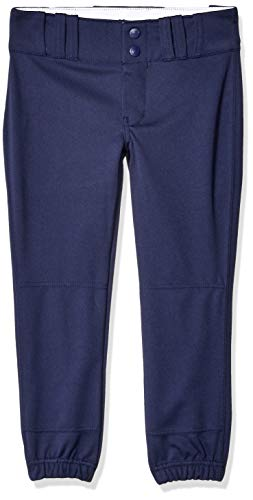 CHAMPRO Youth Tournament Traditional Low-Rise Polyester Softball Pant, Medium, Navy