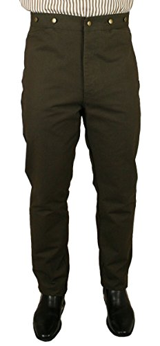 Historical Emporium Men's High Waist Classic Canvas Work Trousers 38 ()