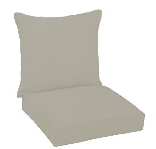 FiberBuilt Umbrellas D0301SB-48032 Hinged Deep Seating Chair Cushion Patio and Lawn Furniture with Sunbrella Fabric, (Sunbrella Furniture Cushions)