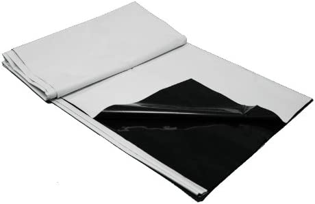 10/' x 25/' BLACK//WHITE PANDA FILM B//W POLY HEAVY DUTY PLASTIC PANDAFILM LINER FT