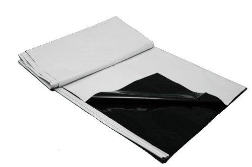' x 25', Poly 5.5 mil, Black/White ()
