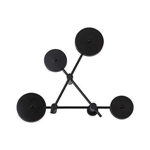 Modern Minimalist Led Wall Lamp Bedroom Bedside Aisle Staircase Nordic Living Room Sconce Light Ceiling Black Round Iron Shade Art for Foyer Hallway Stair Dining,M